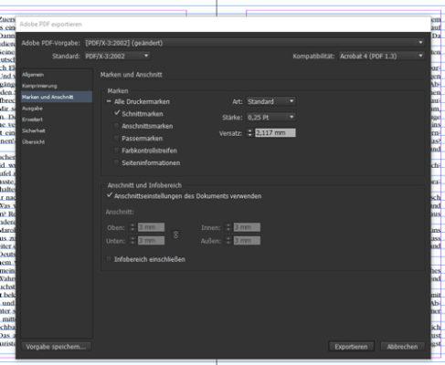 PDF export indesign