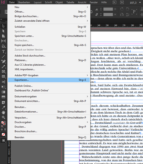 PDF aus Indesign exportieren